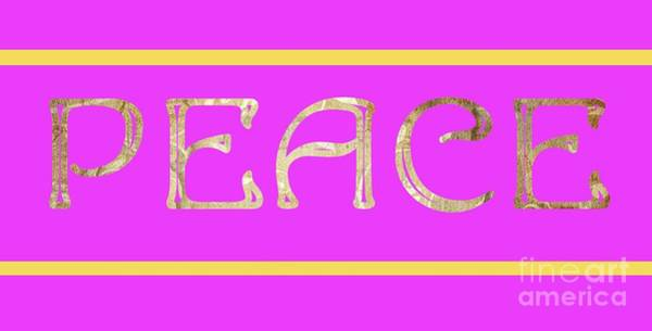 Welcome Sign Digital Art - Peace by Mariola Bitner