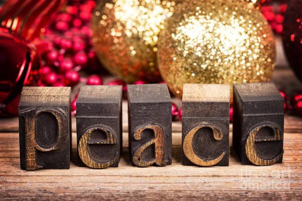 Printer Photograph - Peace Message by Jane Rix