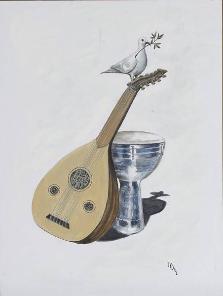 Djembe Wall Art - Painting - Peace by Mr Dill