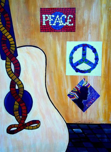Painting - Peace - Music by Cynthia Amaral