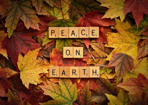 Photograph - Peace On Earth-autumn by  Onyonet  Photo Studios