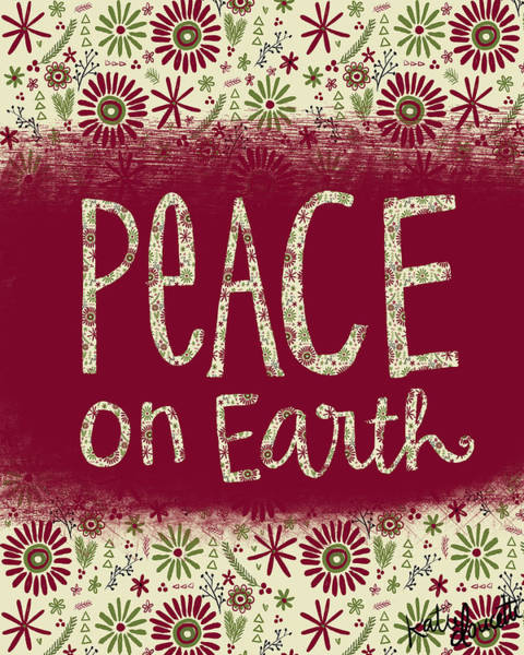 Christmas Decoration Wall Art - Painting - Peace On Earth by Katie Doucette