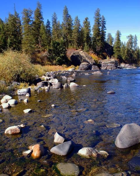 Photograph - Peace On The Spokane River 1 by Ben Upham III