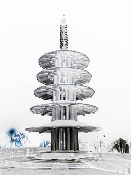 Town Square Digital Art - Peace Pagoda - Japan Town - San Francisco by Daniel Hagerman