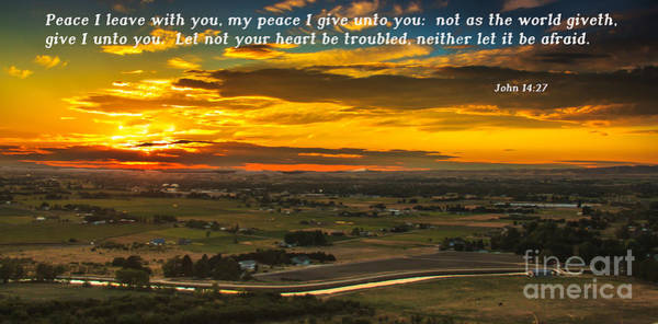 Scripture Photograph - Peace by Robert Bales