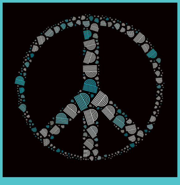 Peace And Love Wall Art - Digital Art - Peace Symbol Design - 87d by Variance Collections