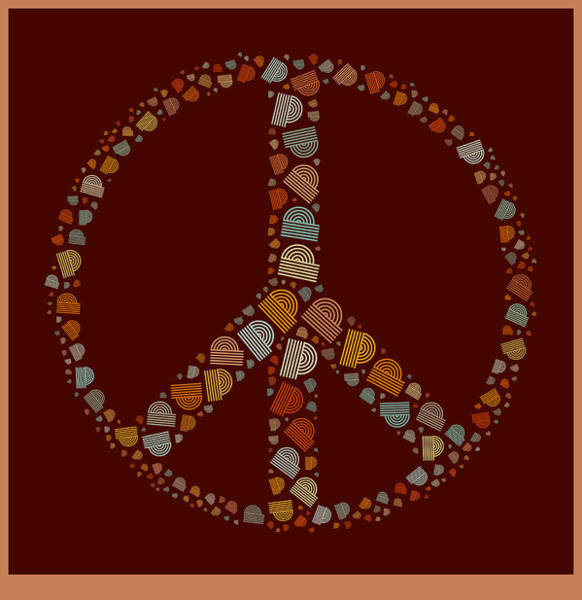Peace And Love Wall Art - Digital Art - Peace Symbol Design - S05d by Variance Collections