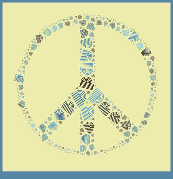 Peace And Love Wall Art - Digital Art - Peace Symbol Design - Y87d by Variance Collections