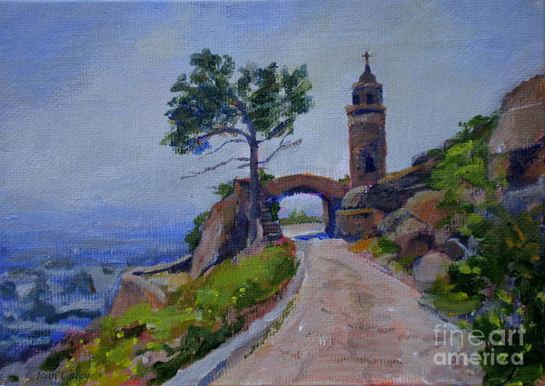 Painting - Peace Tower And Friendship Bridge by Joan Coffey