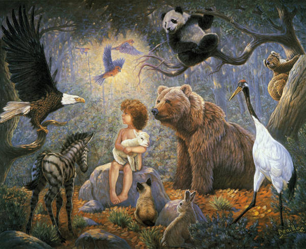 Mother Earth Wall Art - Painting - Peaceable Kingdom by Gregory Perillo