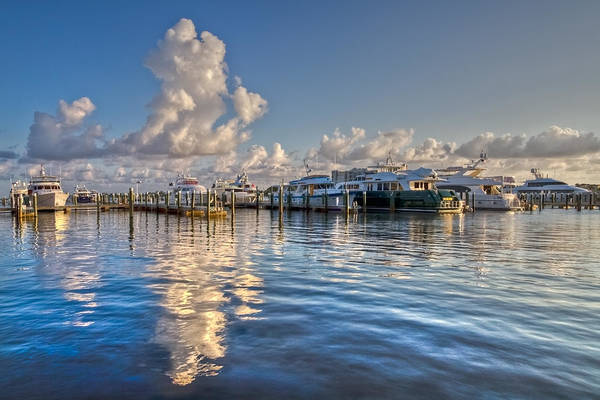 Flagler Beach Photograph - Peaceful Harbor by Debra and Dave Vanderlaan