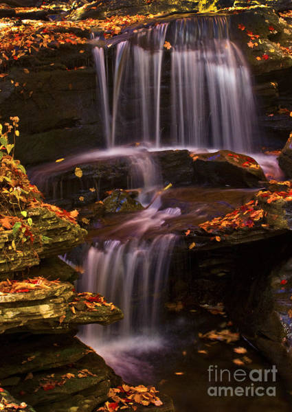 Photograph - Peaceful Little Falls by Paul W Faust -  Impressions of Light
