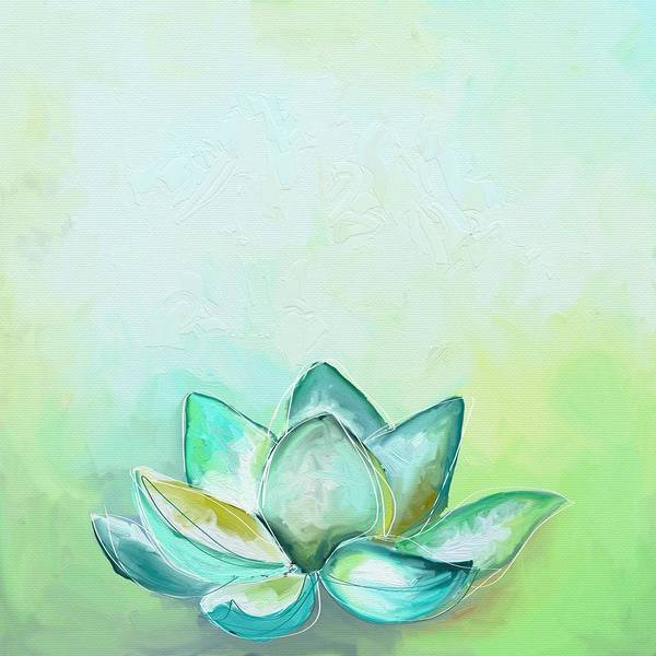 Green Wall Art - Photograph - Peaceful Lotus by Cathy Walters