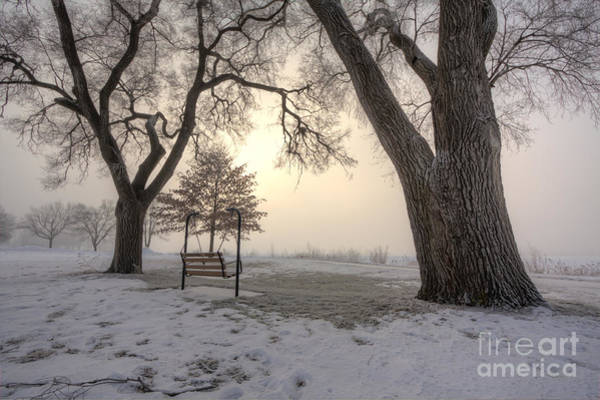 Photograph - Peaceful Morning Fog At East Lake by Kari Yearous