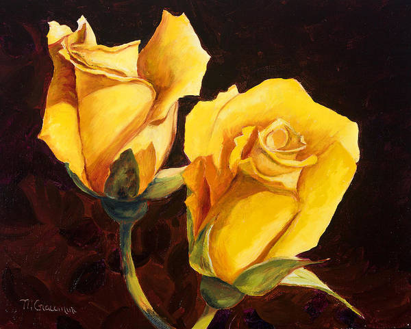 Painting - Peaceful Pair by Mary Giacomini