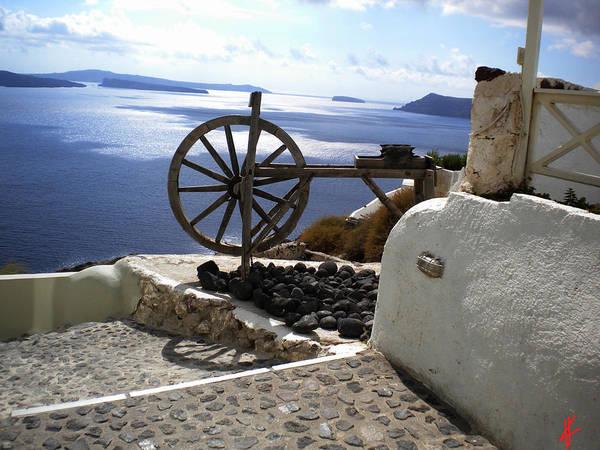 Photograph - Peaceful Santorini Island  by Colette V Hera  Guggenheim