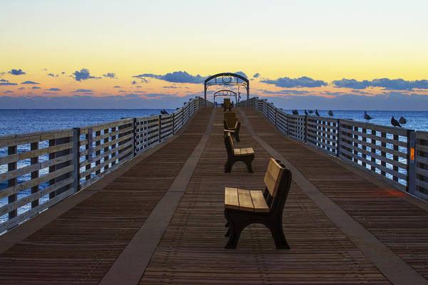 Photograph - Peaceful Sunrise On The Pier by Lynn Bauer