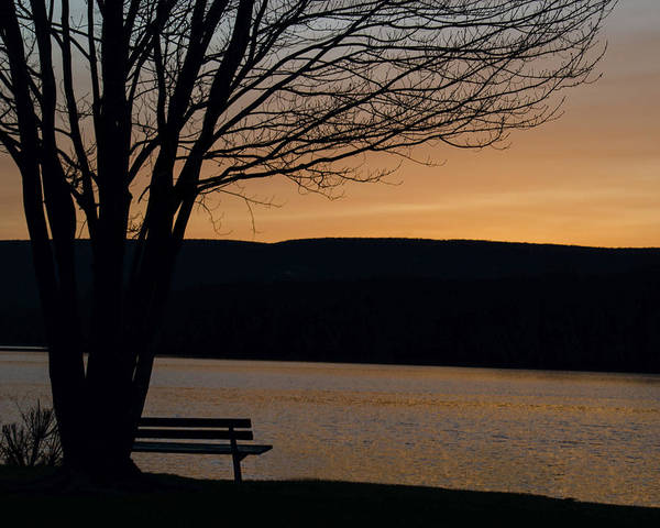 Wall Art - Photograph - Peaceful Sunset By The Lake by Dave Sandt