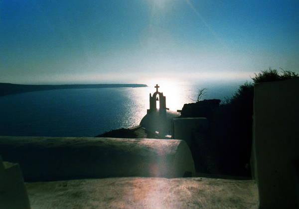 Photograph - Peaceful Sunset Santorini Island Greece by Colette V Hera  Guggenheim