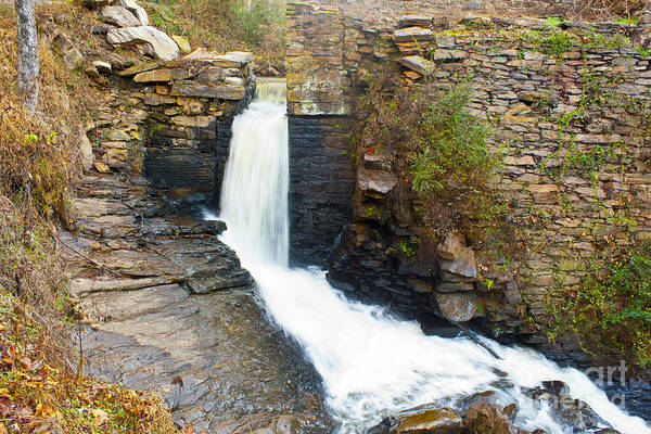 Photograph - Peacefully Calm Waterfall by Michael Waters