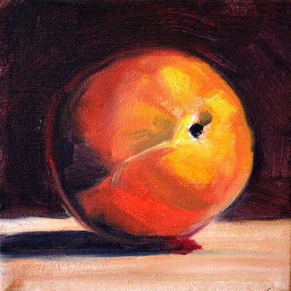 Vegan Painting - Peach 1 by Nancy Merkle