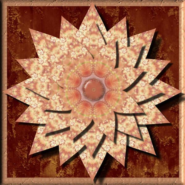 Digital Art - Peach Flower 3d Kaleidoscope by Charmaine Zoe