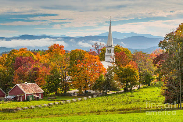 Photograph - Peacham Steeple by Susan Cole Kelly