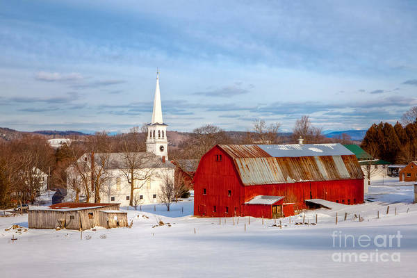 Photograph - Peacham Village Farm by Susan Cole Kelly