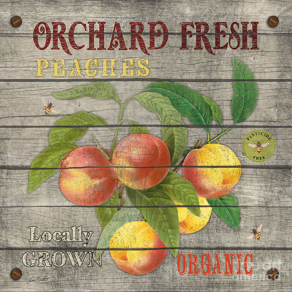 Orchard Painting - Peaches-jp2676 by Jean Plout
