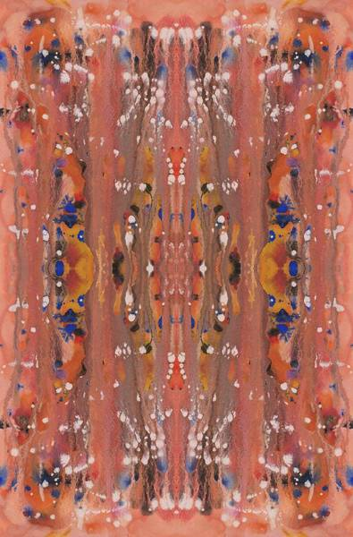 Painting - Peachy Wildflower Abstract Vertical by Barbara St Jean