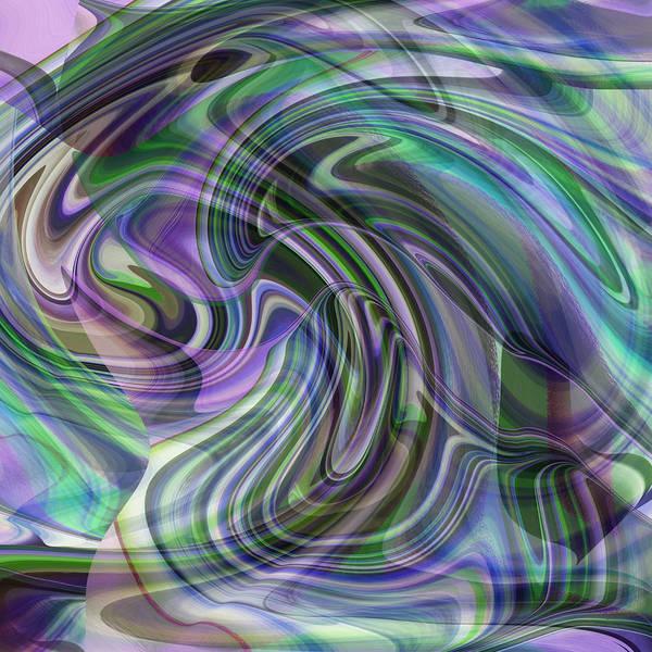 Digital Art - Peacock Blue Shell by rd Erickson