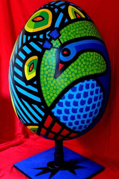 Wall Art - Painting - Peacock Egg II  by John  Nolan
