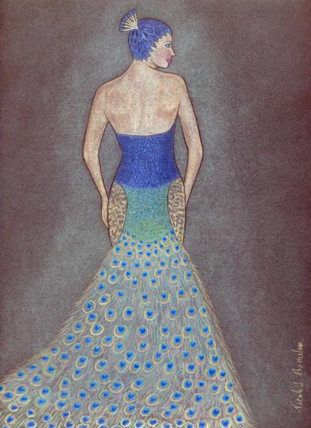 Peacock Fashion Inspiration Art Print by Nicole I Hamilton
