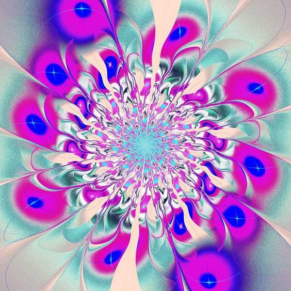 Digital Art - Peacock Flower by Anastasiya Malakhova