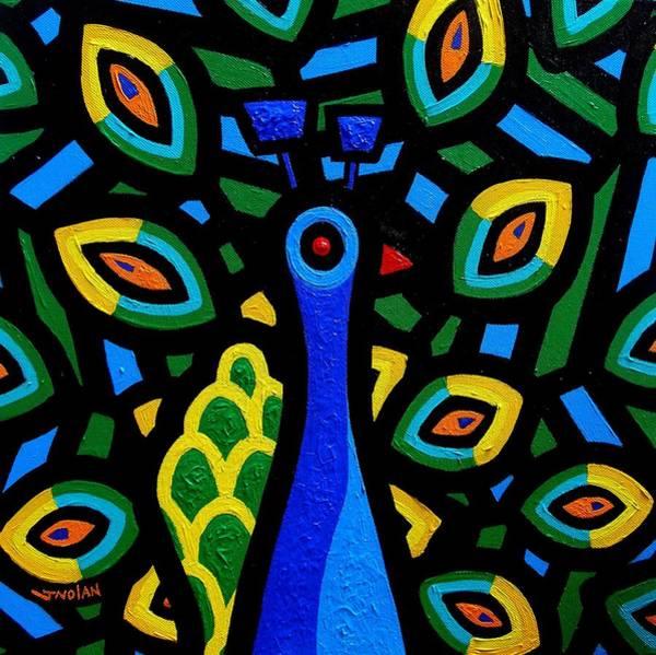 Peacocks Painting - Peacock IIi by John  Nolan