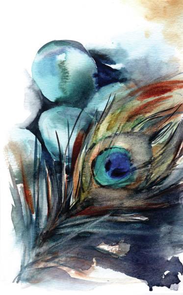 Wall Art - Painting - Peacock IIi by Sophia Rodionov