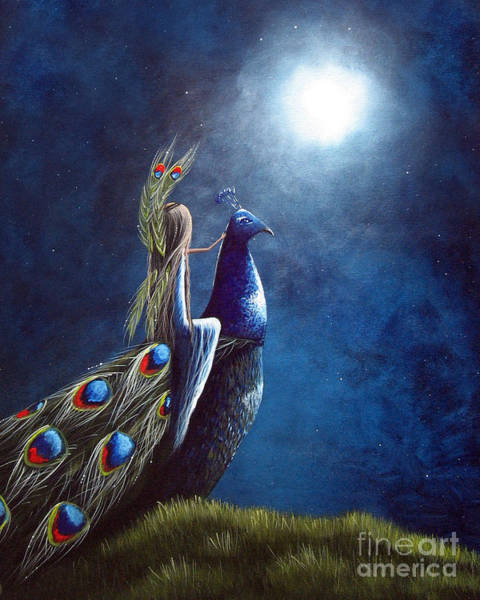 Wall Art - Painting - Peacock Princess II By Shawna Erback by Erback Art