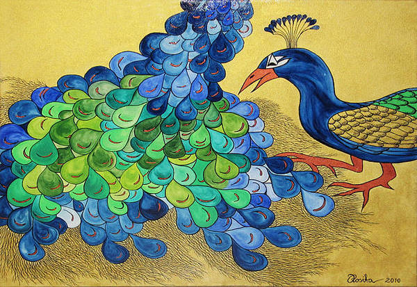 Painting - Peacock by Rosita Larsson