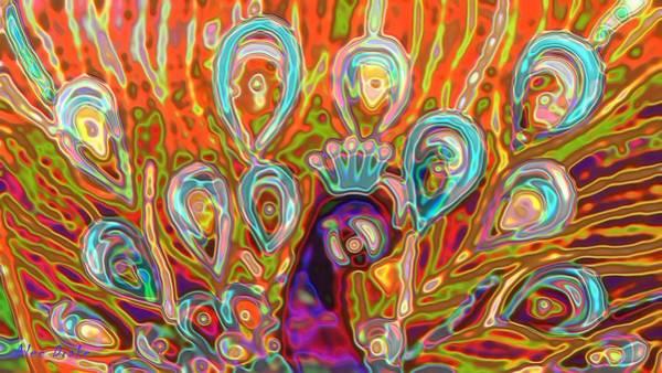 Digital Art - Peacock Surprise by Alec Drake