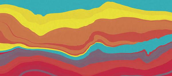 Wall Art - Digital Art - Peaks And Valleys 2 by David G Paul