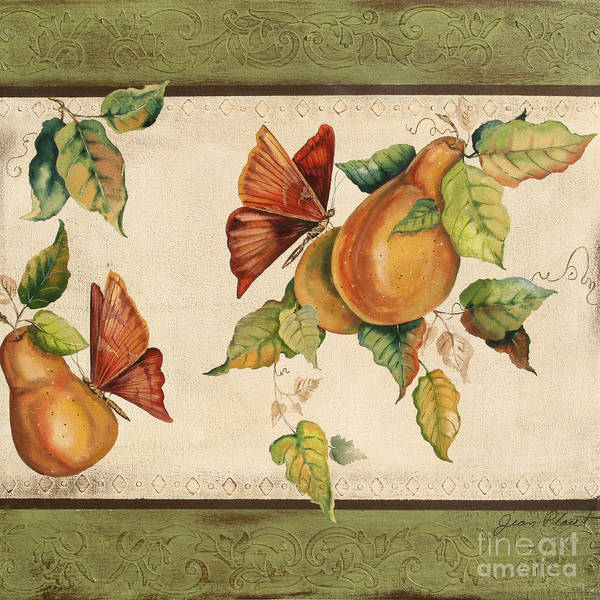 Emboss Wall Art - Painting - Pear Delight by Jean Plout