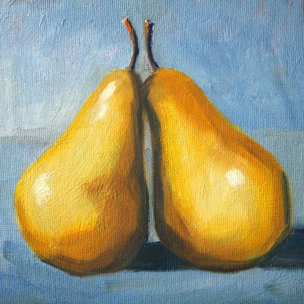 Wall Art - Painting - Pear Love by Nancy Merkle
