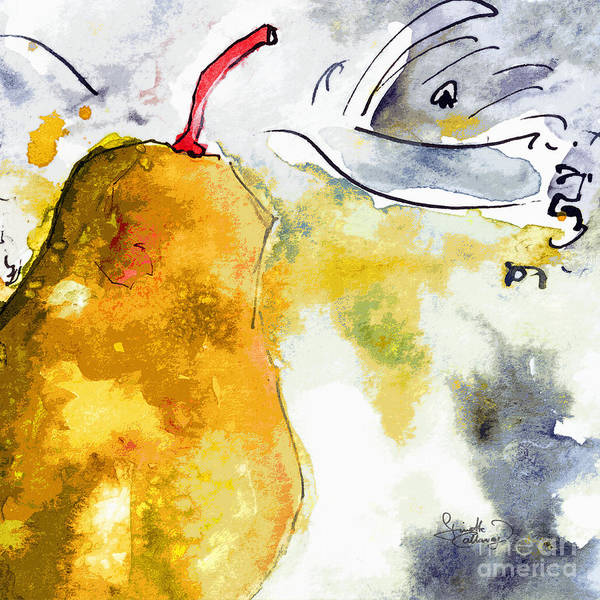 Painting - Pear Modern Whimsical Art by Ginette Callaway
