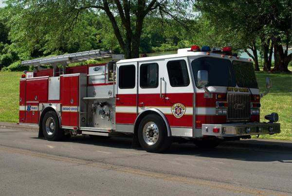 Photograph - Pearce-arrow E-one Utility Fire Truck by Tim McCullough