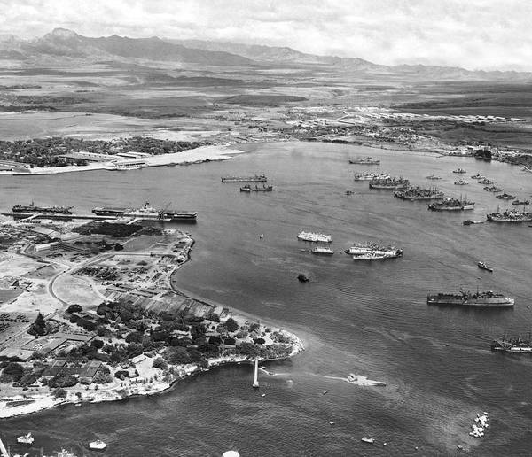 Wall Art - Photograph - Pearl Harbor by Underwood Archives