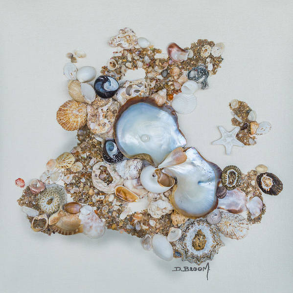 Broom Mixed Media - Pearl Of The Sea by Dawn Broom