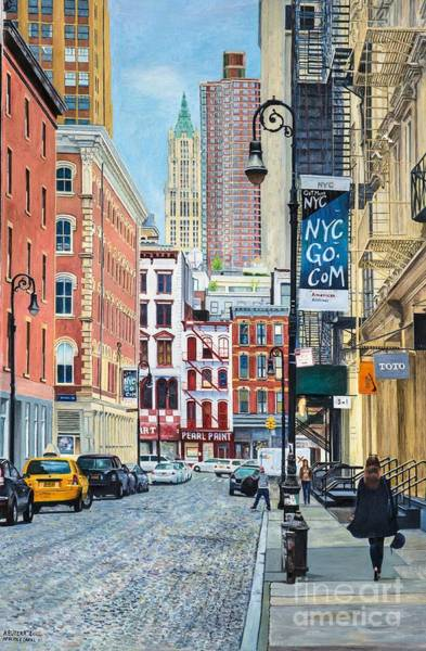 Taxi Painting - Pearl Paint Canal St. From Mercer St. Nyc by Anthony Butera