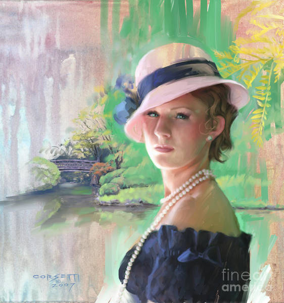 Painting - Pearls And Pink by Rob Corsetti