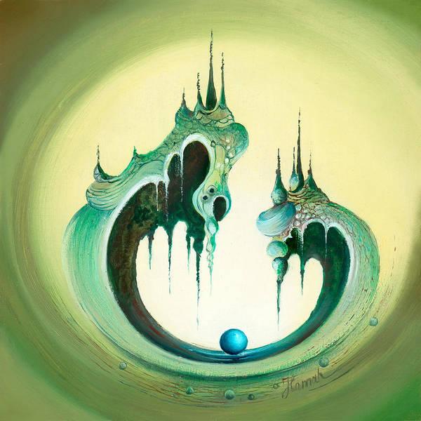 Painting - Pearl's Castle by Anna Ewa Miarczynska