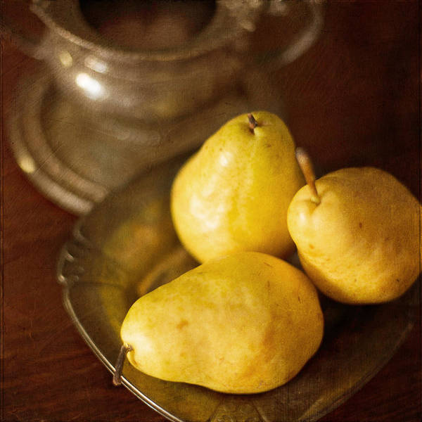 Photograph - Pears And Great Grandpa's Silver by Renee Hong
